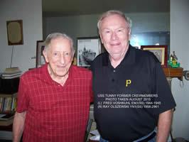 Fred Voskuhl and Boat Yeoman Ray Olszewski