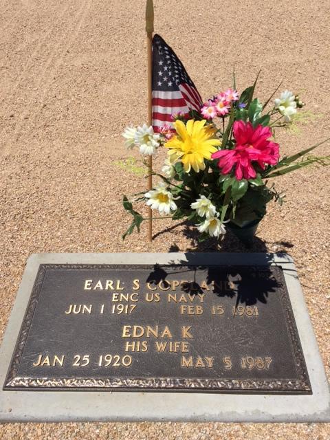 Earl Samuel Copeland Grave Marker