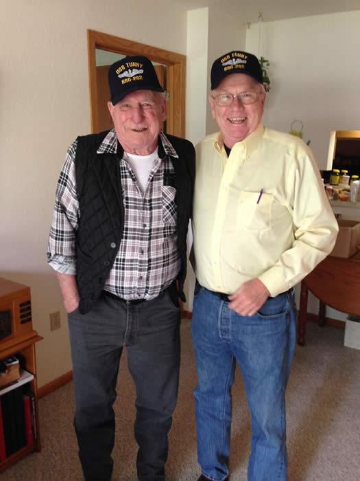Raymond Rudolph Schottle and Boat Yeoman Raymond Vance Olszewski