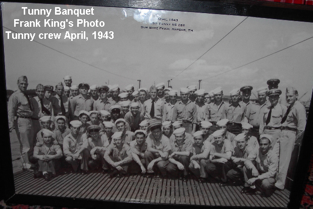 USS Tunny 282 Crew April 1943 Submarine Base Pearl Harbor Hawaii